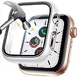 LORDSON Funda Compatible con Apple Watch Series SE / 6/5/4 44 mm, Estuche de Película Protectora de Vidrio Templado, Protecto