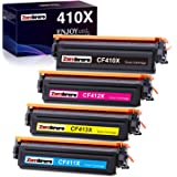Zambrero Compatible HP 410X 410A (CF410X CF411X CF412X CF413X CF410A CF411A CF412A CF413A) Cartucho de Tóner para HP Color La