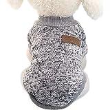 Idepet Husdjur katt hund tröja, varma hundtröjor kattkläder, fleece husdjurskappa för valp liten medium stor hund, rosa och g