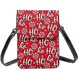 Bolso bandolera de Navidad Hohoho de Santa Claus Laugh ligero para teléfono celular para mujer con bolsillos espaciosos