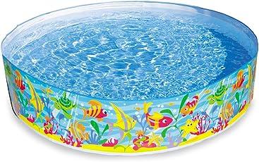 INTEX Pool 183x38 cm, ca. 977 Liter, schneller und einfacher Auf-und Abbau // Steilwand Pool Planschbecken Kinder-Schwimmbecken Schwimmbad Kinderpool
