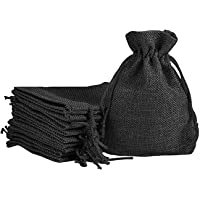 Lifekrafts jute Linen Pouches Christmas, Birthday and Party Favour Bags Potlis for Functions, Baby Showers, Candy Bags