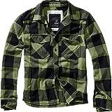 Brandit Camisa a Cuadros Hombre Camisa de Franela Verde-Negro ...