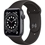 New AppleWatch Series 6 (GPS, 44mm) - Space Grey Aluminium Case with Black Sport Band
