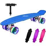 BELEEV Skateboard 22 inch Completo Mini Cruiser Skateboard per Bambini, Giovani e Adulti, Ruote con all-in-One Skate T-Tool p