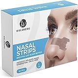 Welsberg 90x cerotti nasali per non russare cerotti per naso antirussamento per respirare meglio, taglia L