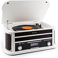 auna Belle Epoque 1908 - Retroanlage, Plattenspieler, Stereoanlage, Digitalradio, Radio-Tuner, MP3-fähig, RDS…