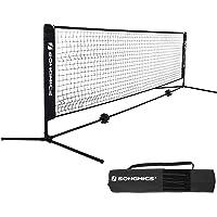 664a6a7918c SONGMICS Badmintonnetz Tennisnetz Höhenverstellbar Federballnetz mit Ständer