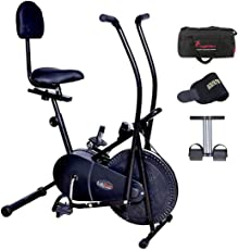 Lifeline 103BS Exercise Bike with Gym Bag and Tummy Trimmer (Black)