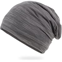 Elwow Men's Breathable Thin Cotton Yarn Fabric Made Beanie Slouch Hat Soft & Comfortable One Size Fit, Head Cap, Night…