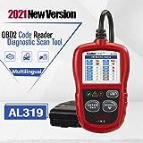 Autel Autolink AL319 Bus Can Diagnosis Multimarca 2 EOBD Auto Scanner Lee y Borra Códigos de Error de Automóviles con Interfa
