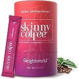 Skinny Coffee, Café Instantáneo Control del Peso Programa de 28 días - Café Árabe, Granos Café Verde, Ginseng, Chlorella, Pol