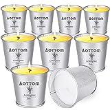 Candele Citronella Giardino, Aottom Set Candele Profumate Regalo con Citronella Olio, Naturale Candle Cera di Soia | Citronel