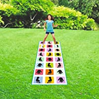 TULAY Hopscotch Jumbo Play Floor Games , Game for Kids & Adults Family Game, Kith-Kith, Stapu, Langdi, Chalk Game