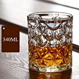 Syanka Classic Old Fashioned Whiskey Glasses Set of 2, Clear, 340 ml, Whisky Glass