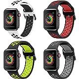Sycreek Compatible para Apple Watch 38mm 40mm 42mm 44mm Hombres Mujeres, Reemplazo Ligero Impermeable Banda de Reloj Correa d