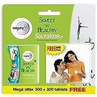 Sweet n Healthy Zero calorie Sweetner (Sugar Substitute) Sucralose Tablets, 300 Tablets (Buy 1 Get 1 Free)