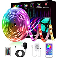 LED Strips Lights, L8star Led Lights 5m/16.4ft Color Changing SMD 5050 RGB Lights Strips with Bluetooth Controller Sync…