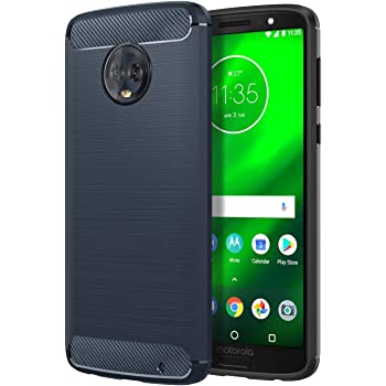 (Amazon Lightning Deal} REALIKE® Moto G6 Plus Cover,Carbon Fiber Design Lightweight Shockproof Case for Moto G6 Plus {Limited Time Discounted Price}