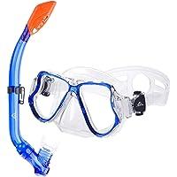SKL Taucherbrille mit Schnorchel Schnorchelset Kinder Tauchset aus Gehärtetem Glas Anti-Leck Anti-Fog, ideal für Tauchen…