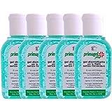 PRIMAGEL PLUS - GEL IGIENIZZANTE MANI - per disinfettare e igienizzare le mani senza acqua (5 Pack 50 ml)