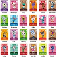 TPLGO 24 Pcs ACNH NFC Tag Mini Game Rare Character Villager Cards for New Horizons, Game Cards Series 1-4 for Switch/Switch Lite/Wii U/New 3DS with Storage Case