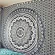 Magical Tapestry Black and Grey Ombre Bohemian Mandala tapestryHome Decor , Hippie wall hanging Bedspread by Craftozone (Double 240x220 cms)