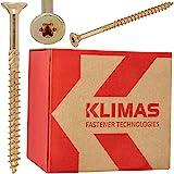 KLIMAS Houten schroeven Torx spaanplaatschroeven 4,5 x 50 mm 250 stuks | verzonken schroeven terrasschroeven universele schro