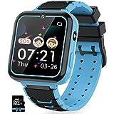 Kinder SmartWatch Phone Smartwatches mit Wasserdicht IP67 SOS Voice Chat Kamera Wecker Digitale Armbanduhr Smartwatch Junge M