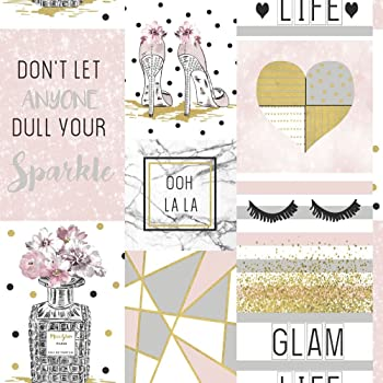Holden Decor Life Is Beautiful Quotes Geometric Marble Wallpaper