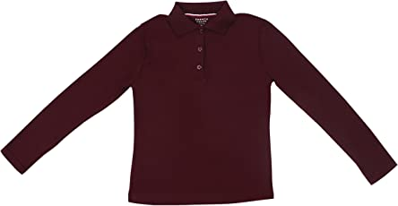 Hey It's Me Full Sleeves Classic Pain Cotton Burgundy Color Stretchable Polo T-Shirt For Boys/Girls
