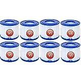 SSWD Lot de 8 cartouches filtrantes VI pour piscine Bestway VI, filtre de rechange pour cartouche filtrante Lay-Z-Spa Miami p