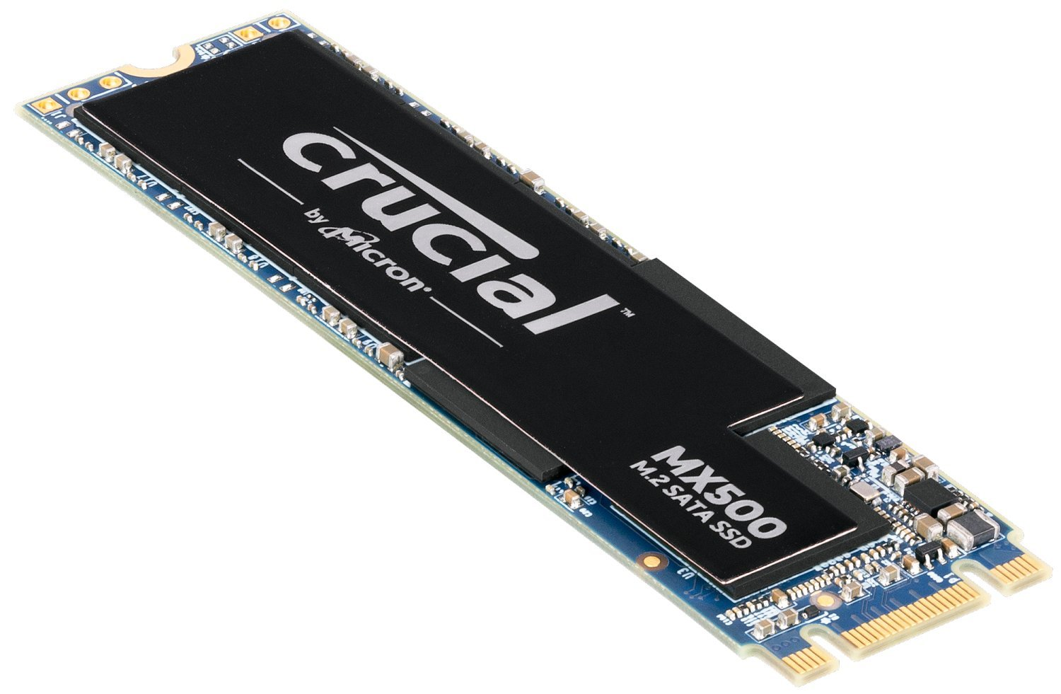 Crucial MX500 Internes SSD (3D NAND, SATA, M.2 Type 2280SS)