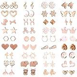48/42 paia assortiti orecchini multipli orecchini gioielli con carta per le donne ragazze semplice set di orecchini a cerchio
