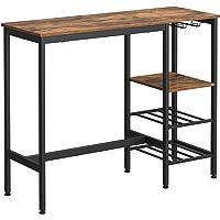 VASAGLE Table Haute, Table à Manger, Table de Bar, avec Supports pour Verres et Bouteilles, pour Salon, Cuisine, 110 x…