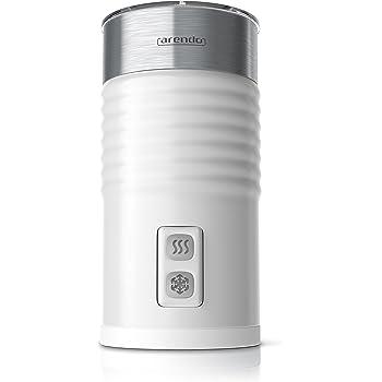 Arendo - Montalatte automatico | Cappuccinatore / spumatore | design in acciaio a doppia parete | 2 tasti per miscelazione a caldo e freddo | superficie Soft-Touch | protezione contro il surriscaldamento tramite spegnimento automatico | rivestimento antiaderente | base di stazionamento a 360° | bianco