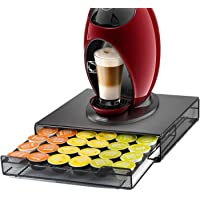 HiveNets Dolce Gusto Porte Capsules Présentoir Distributeur Tiroir de Rangement Métal Stockage Pour Machine à Café