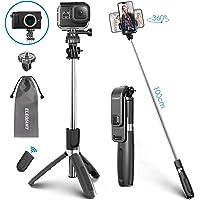 ELEGIANT Perche Selfie, Selfie Stick Bluetooth Trépied Bluetooth Bâton de Selfie Monopode Réglable Télescopique 4 en 1 Extensible 360° Rotation pour Téléphone iPhone Samsung Huawei Gopro Caméra