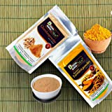 Online Quality Store Kasturi Turmeric Powder for Face(100 Grams) + Sandalwood Powder Pure Organic for Skin Whitening(100…