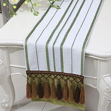 Tischläufer Modern lingzhigan green stripe tuch tischläufer modern simple fashion
