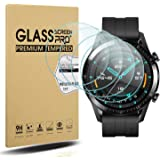 Diruite 4-pack för Huawei Watch GT 2 (46 mm version) pansarglas skyddsfolie, HD-glas displayskyddsfolie för Huawei Watch GT 2