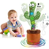 (Premium&Exquisite) Electronic Shake Dancing Cactus Plush Toys, Funny Early Childhood Education Toy for Kids Plush Dancing an
