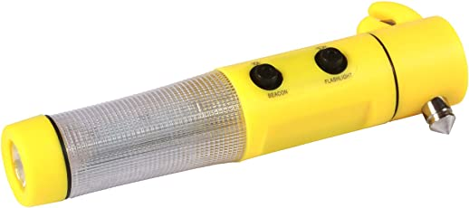 Bright Flame Unique Gadget 5-in-1 LED Car Tool (Yellow)