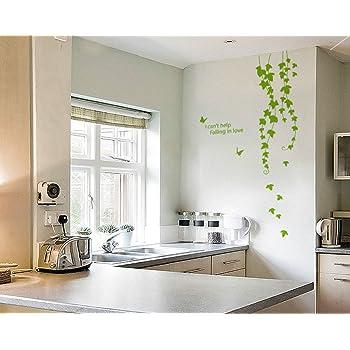 Decals Design 'Grape Vine Plant' Wall Sticker (PVC Vinyl, 60 cm x 45 cm, Green)