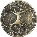 Tartan City New Men's Scottish Celtic Tree Round Kilt Belt Buckle Antique Finish/Celtic Tree Belt Buckle