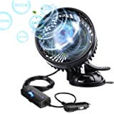 Car Fans, Tvird 12V Fans Car Cooling Fan with Adjustable Two Speed Low Noise 360°Rotating Car Air Fan Cooler with…