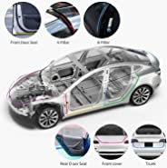 walmeck- car seal strip,11pcs Universal Auto Car Door Seal Kit Adhesive Soundproof Strip Weather Stripping Wind Noise Reduct
