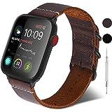 GerbGorb Cinturino per Apple Watch 38mm/40mm, Nato Cinturino in Pelle Compatibile con iWatch, Cinturini per Apple Watch Serie