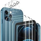 YockTec Vetro Temperato Compatibile con iPhone 12 PRO Max + Fotocamera Lenti Proteggi[3+3pezzi],Pellicola Protettiva, Pellico