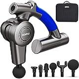 Pistolet de Massage Musculaire, RENPHO Massage Gun Masseur de Muscle Profonds avec Bras Réglable et 6 Tête de Massage à Percu